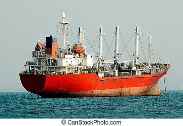grand, pétrolier, bateau