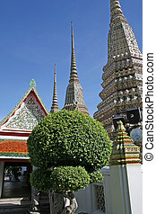 Grand Palace Chedis - Chedis in the grounds of the Grand...