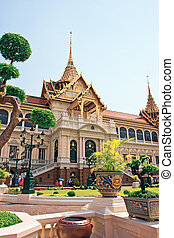 Grand palace in Bangkok, Thailand - Phra Borom Maha Ratcha...