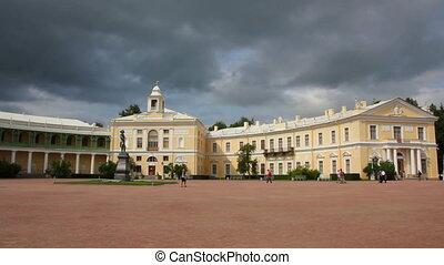 Grand palace in Pavlovsk park Saint-Petersburg Russia