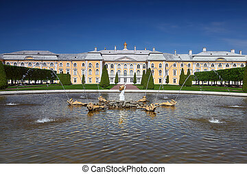 "Grand Palace of Peterhof, fountain ""Oak""  Saint-Petersburg, Russia"