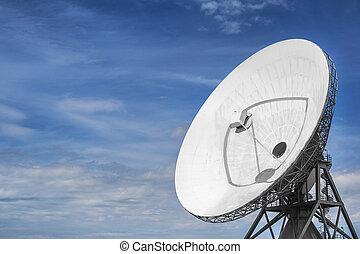 grand, parabolique, satellite, interception,...