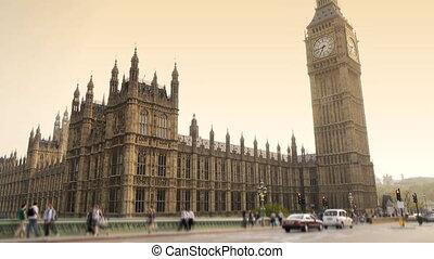 grand, parlement, ben, londres, maisons