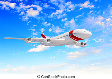 grand, passager avion