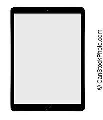 grand, pc tablette, isolé, blanc, fond