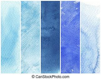 grand, peintures, -, texture, aquarelle, papier, fond, rugueux