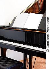 Grand Piano - Abstract closeup of a grand piano