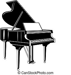 Piano Concert Three D Illustration Of Grand With Clip Art
