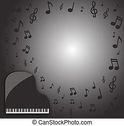 Grand Piano Dark Musical Background