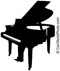 Grand Piano - Logo style artwork