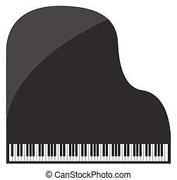Grand Piano - A grand piano design isolated on a white...