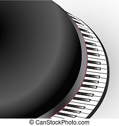 grand piano keys abstract view on white background
