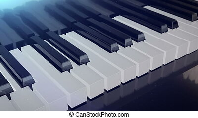"""Grand piano keys"" - ""Grand piano keys deforms in length..."
