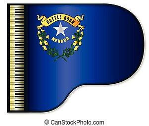 Grand Piano Nevada Flag