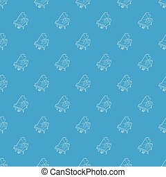 Grand piano pattern vector seamless blue