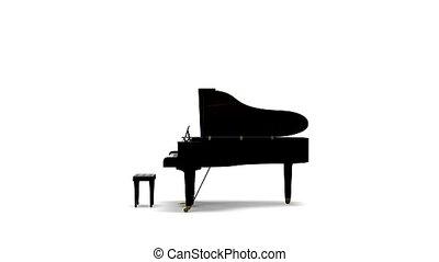 Grand piano rotating