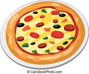 grand, pizza