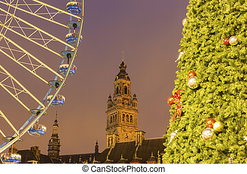 Lille in France during Christmas - Grand place with Chamber ...