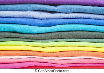 grand plan, coloré, vêtements