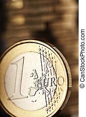 grand plan, de, une, euro, monnaie