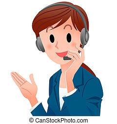 grand plan, mignon, soutien, opérateur téléphone, sourire,...
