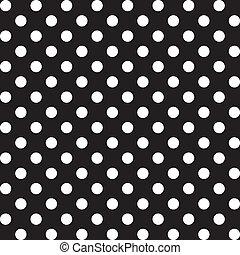 grand, points polka, seamless, modèle
