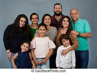 grand, portrait famille
