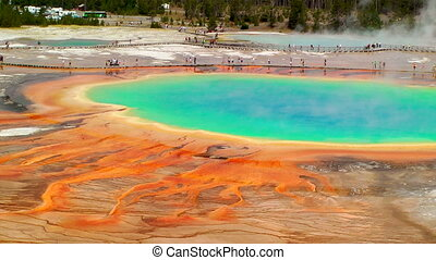 Grand Prismatic Spring, time lapse