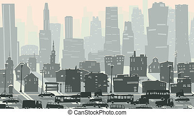 grand, puéril, cars., ville