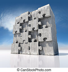 grand, puzzle, puzzle, vide