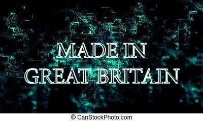 """grand, réseau, texte, """"made, britain"""", numérique"""