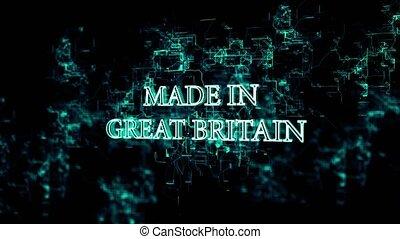 """grand, réseau, texte, """"made, tourner, britain"""", numérique"""
