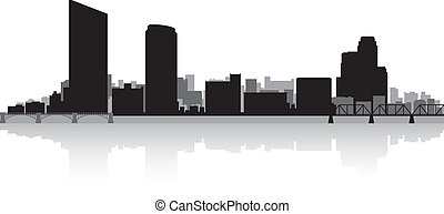 Grand Rapids city skyline silhouette - Grand Rapids USA city...