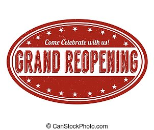 Grand reopening stamp - Grand reopening grunge rubber stamp...