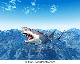 Illustrations et cliparts de les grand requin 108 dessins et illustrations vecteurs eps de les - Dessin de grand requin blanc ...