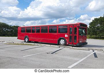grand, rouges, autobus