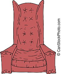 grand, rouges, fauteuil