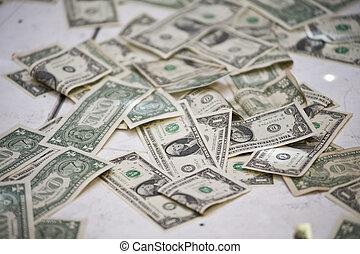 grand, sac, argent