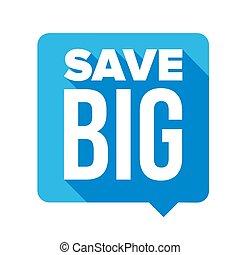 grand, sauver, bulle discours