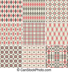 grand, seamless, collection, motifs