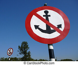 grand, signes, ancre, deux, non