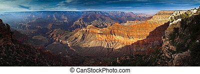 Sunset over Grand Canyon from South Rim