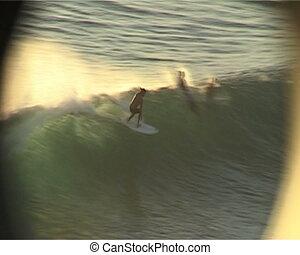 grand, surfer, bali, vagues