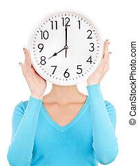 grand, tenue femme, horloge