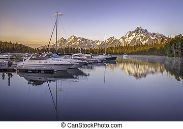 Grand Teton and Coulter Bay Sunrise