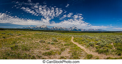 Grand Tetonn National Park in the Rocky Mountains of Wyoming.