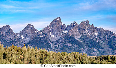 grand teton national park morning in wyoming