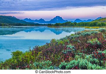 Grand Teton Reflection at Sunrise