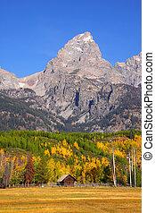 Grand Tetons peak