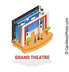 Grand Theatre Isometric Background